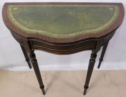 leather top small half round console table sold 2178 p jpg