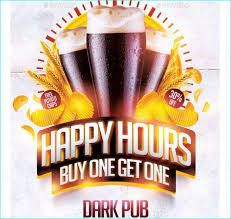 Happy Hour Flyer Beer Happy Hours Flyer Party Flyer Templates For Clubs