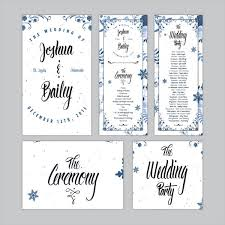Printable Wedding Program Templates Free Wedding Program Templates 9 Free Psd Vector Ai Eps Format