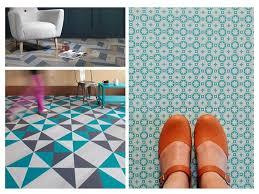 vinyl floor tips ideas personality blue pattern