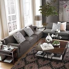 furniture living room wall:  bassett furniture gray sofa beige walls l shaped sectional provincial living room