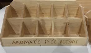 rustic wood counter display pop dividers retail