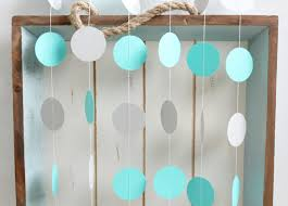Turquoise Baby Shower Decorations Turquoise And Grey 12 Ft Circle Paper Garland Wedding