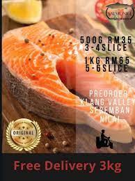 Rebus ikan salmon sampai matang kemudian haluskan. Resepi Ikan Salmon Salai Enak Dan Mudah Resepi Pemakanan