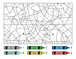 Cartoon Snake Color Number Printable Coloring Pages Click The View