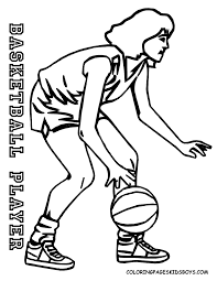 Pro Basket Girl Sports Coloring Pages For Girls Free Printable