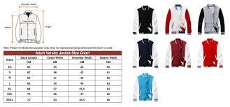 Varsity Jacket Size Chart Varsity Jacket Kids Size Available