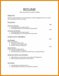 Simple Job Resume Samples Resume Corner
