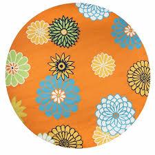 rizzy azzura hill wool round area rug 8 feet orange multi color fl modern