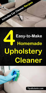 how to clean your sofa couch or car seat upholstery with a natural homemade diy