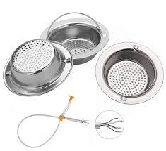 4pcs Sink Drain Strainer Premium Stainless Steel Kitchen Sink