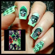 Suicide Squad Suicidesquad Nails Nehty Pinterest Maquillaje Nail Art