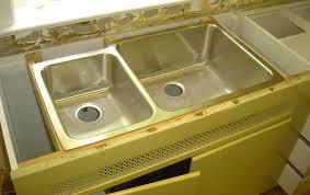 undermount sink installed on brackets