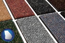 carpet samples with georgia icon