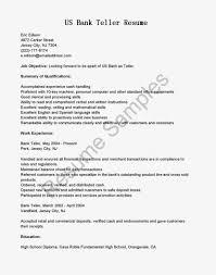 Sample Resume For Bank Teller Bank Teller Resume Objective Best