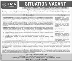 Executive Director Operations Jobs In Icma Pakistan 11 Jul 2017