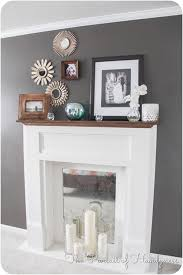 faux fireplace mantle diy