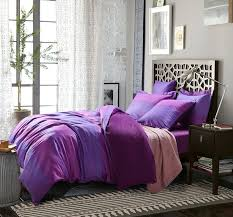 purple satin solid full queen size duvet cover bedding sets