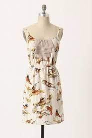 Anthropologie ELOISE Bird Sparrow Print DISTANT CHIRPING CHEMISE Slip Dress  S #fashion #clothing #shoes #accessories #wome… | Dresses, Slip dress,  Clothes for women