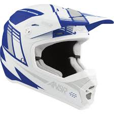 Answer Racing Snx 2 Youth Helmet Matte Navy White Grey S 361751