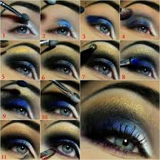 stylish blue eye makeup tutorial