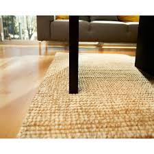 Anji Mountain Zatar Ribbed Loop Pile Wool and Jute Area Rug - Ivory and  Beige | Hayneedle