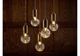 clear crystal bulb pendant lamp
