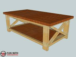 inspiring rustic coffee table plans and fun with woodworking building the ana white rustic x coffee
