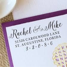 Wedding Address Stamp Return Address Stamp Personalized Invitation