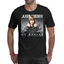 Justin Bieber T Shirt Design Men Design Printing Justin Bieber My Worlds Acoustic Black T Shirt Design Personalised Vintage Make A Friends Shirts Retro T Shirt Fashi