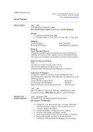 Resume Template For Undergraduate Students Utsa College Of