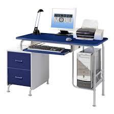Slim Computer Desk Techni Mobili Contempo 52w Teen Computer Desk With Drawers Blue