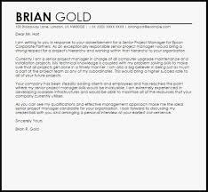 Project Manager Cover Letter Final Cisatl Com