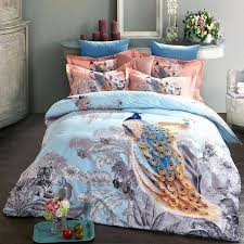 peacock bedding sanding printed set thick warm duvet cover sets bed sheet pillowcases twin peacock bedding 4 cotton bed linen