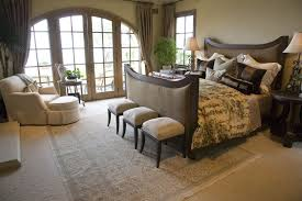 dark furniture bedroom ideas. open bedroom with a panoramic view through glasspaned french doors dark furniture ideas g