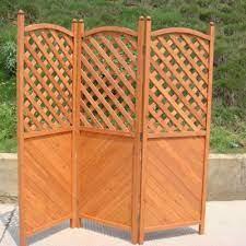 three panel wooden patio garden privacy