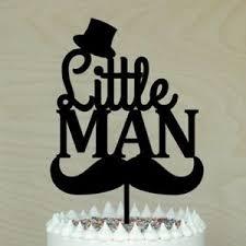 Little Man Cake Topper Baby Shower 1st Birthday Boy Cake Decor