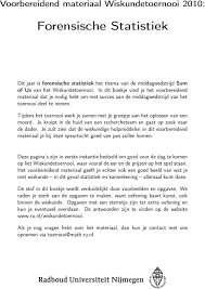 Forensische Statistiek - PDF Gratis download