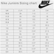 Nike Com Shoe Size Chart Nike Size Chart Toddler Bedowntowndaytona Com
