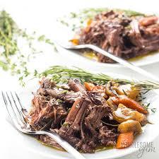 keto low carb pot roast slow cooker