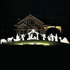 outdoor nativity silhouette outdoor nativity sets set image of patterns figures white silhouette outdoor nativity scene