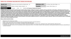 Ndt Inspector Resume Qc Engineer Welding Ndt Inspector Job Letter Resume