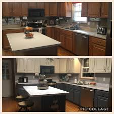 Two Toned Painted Kitchen Cabinets In Fusion Mineral Paint Dear