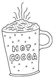 Small Picture Hot Cocoa Coloring Page winter Pinterest Embroidery Free
