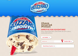 Dairy Queen Blizzard Nutrition Chart Dairy Queen April 2013 Blizzard Of The Month Choco Covered