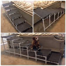 pvc dog steps for your bed made with outdoor carpet wood and zip