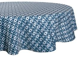 dii blue ikat outdoor tablecloth 60 round