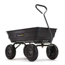 gorilla carts 600 lb poly garden dump