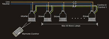 colour changing led gu10 lamp downlights direct wiring diagram to install this colour changing led gu10 lamp you need to order one master and as many slaves as you want up to 32 slaves per circuit
