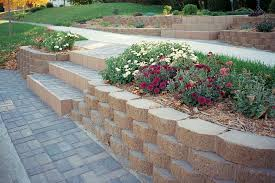 retaining wall blocks with stairs
